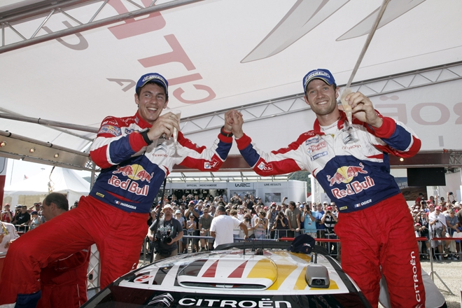 Ogier Ingrassia Citroen WRC podio