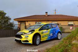 Óscar Palacio manda en la provisional del regional en el Rallye Princesa de Asturias