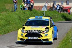 Óscar Palacio y su Fiesta R5 en el Rallye Princesa de Asturias-Ciudad de Oviedo