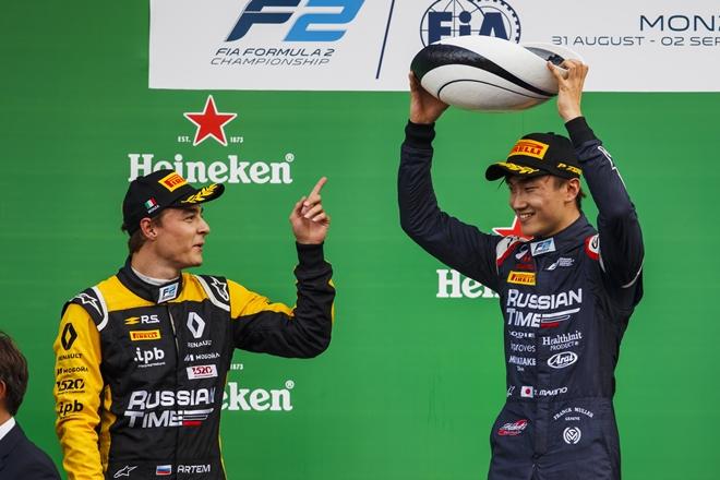 f2 monza 1 makino markelov podio 0209