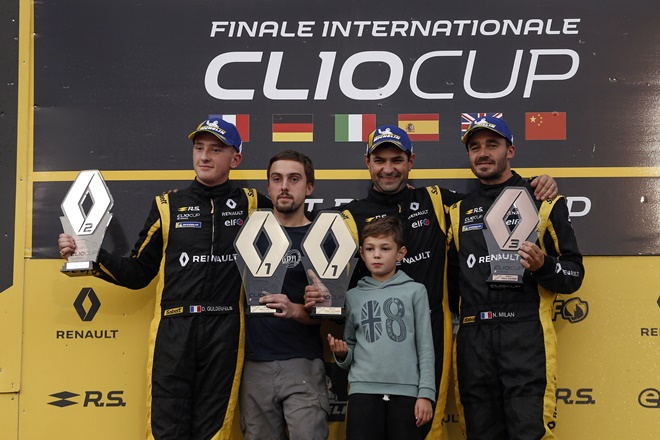 clio cup paul ricard podio gundel fels pouget milan