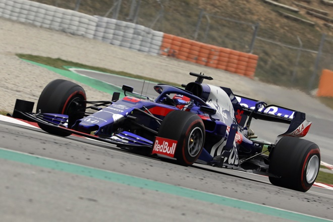 kvyat f1 montmelo test days 2019