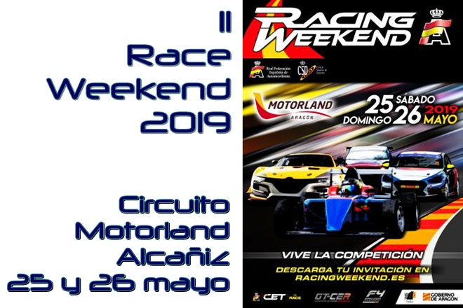 race weekend aragon 2019 cartel