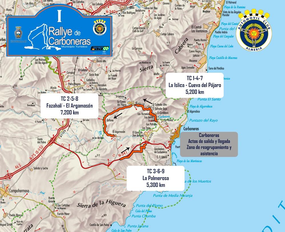 rallye Carboneras 2019 mapa