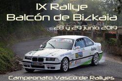 Rallye Balcón Vizcaya cartela 2019