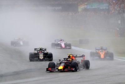 Verstappen ganador de una alocada carrera en Hockenheim