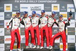 podio toyota triplete rallye alemania
