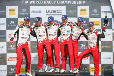 Toyota copa el podio en Alemania con la quinta victoria del año para Tanak-Jarveoja