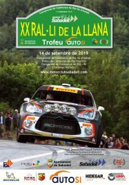 Rallye La Llana 2019 cartel