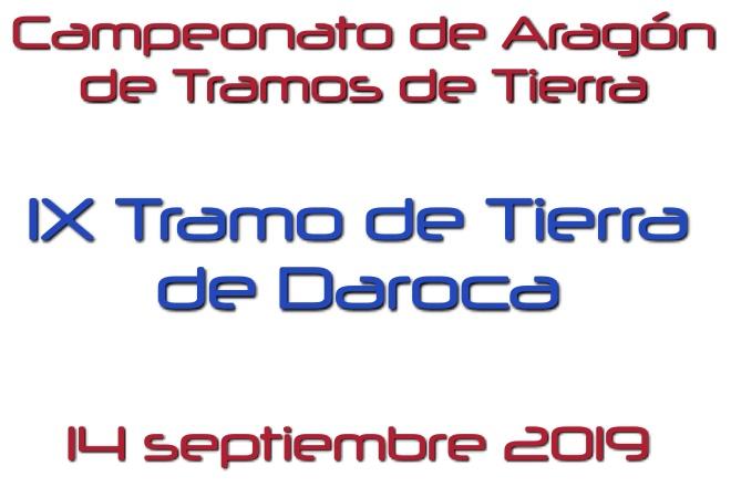 Tramo Tierra Daroca 2019 cartela
