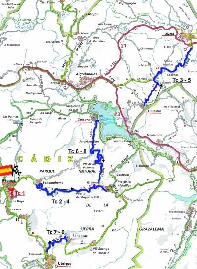 rallye cadiz 2019 mapa