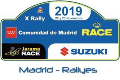 rallye comunidad madrid 2019 Placa