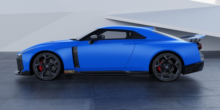 Nissan GT-R50 by Italdesign production rendering Green FR34