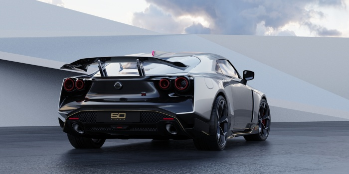Nissan GT-R50 by Italdesign production rendering Silver RR