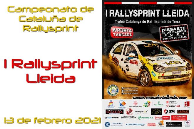 RallySprint Lleida 2021 cartela